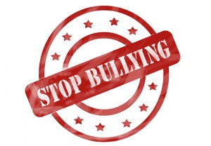 Red Weathered Stop Bullying Stamp Circles And Stars